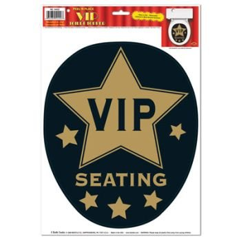 Removable Bathroom Toilet Topper Seat VIP Peel 'N Place Sticker Decoration]()