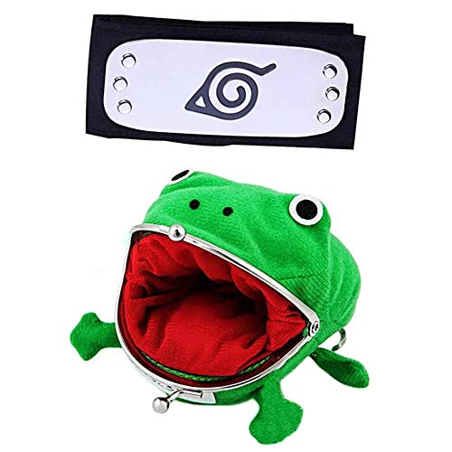 Cute Plush Frog Coin Purse With Ninja Headband, Frog Coin Wallet For Halloween Cosplay Ninja Themed Party Christmas,Toys…