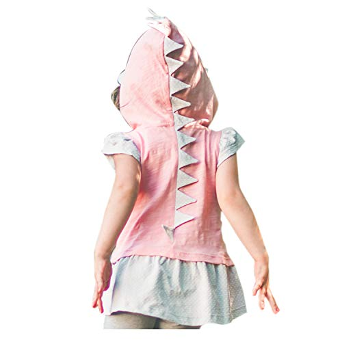 Mini Jiji Dino Toddler Girl T-Rex Dino Hoodie Peplum Tank with Sun Cap (5 yrs, Girl's Dino Tank)]()