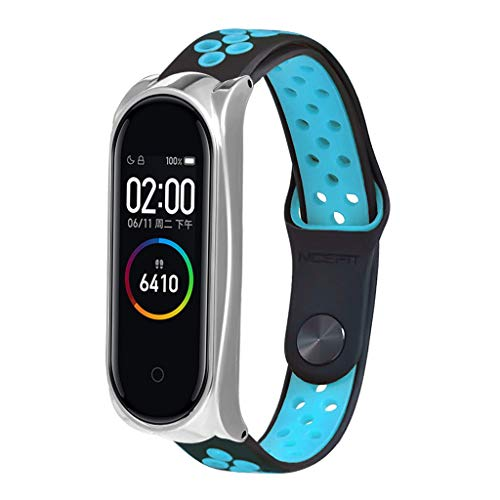 Price comparison product image VICCKI Ventilate Sport Soft Replacement Wristband Wrist Strap for Xiaomi Mi Band 4