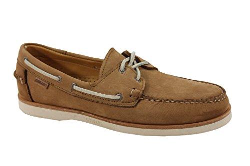 (Sebago Men's Crest Docksides Tan Nubuck Boat Shoe 7.5W)