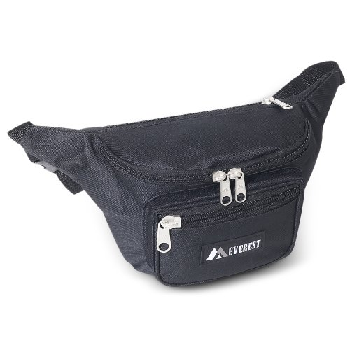 Everest Large Fanny Pack. BLACK, Outdoor Stuffs