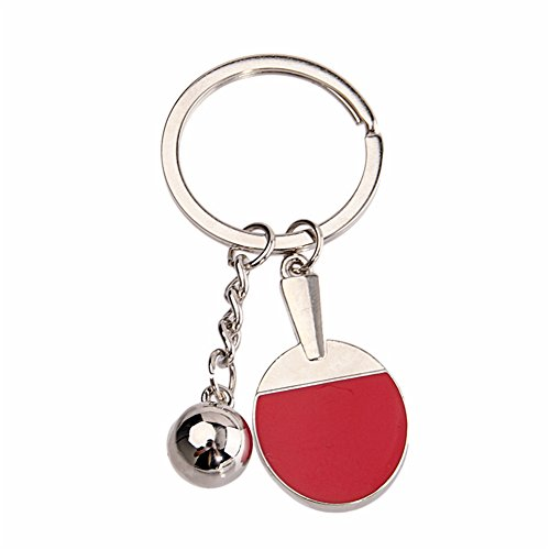 Tennis Racket Key Chain (Red) - 8
