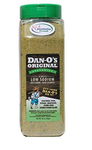 - 20oz Dan-O's Original Seasoning, Low Sodium, No Sugar, All Natural, Keto diet's best friend! Low Sodium means the right amount of salt! Dan-O's flavor is unmatched.