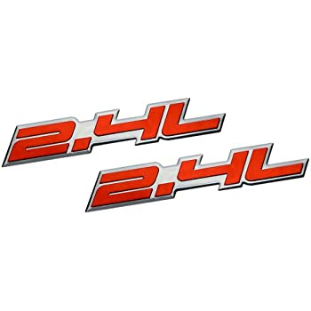 2X 5.7L Silver Black Dodge Chevy Bumper Hood Fender Dash Emblem Decal Sticker