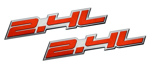 2 x (pair/Set) 2.4L Liter Embossed RED on Highly Polished Silver Real Aluminum Auto Emblem Badge Nameplate for Saturn Sky Buick Regal Lacrosse CXL Pontiac Solstice Grand AM Sunfire GT Chrysler 200 PT Cruiser Sebring Chevrolet Malibu Equinox LT HHR Cobalt Cavalier Captiva GMC Terrain SLE Dodge Dart Avenger Caliber Caravan Journey SXT Express Stratus NEON SRT4 Jeep Compass Latitude Patriot Sport Wrangler Liberty Cherokee SUV Sport Utility sedan coupe FWD AWD 4WD 2dr 3dr 4dr hatchback (Pontiac Grand Am Gt Decals compare prices)