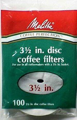 White Disc Coffee Filter