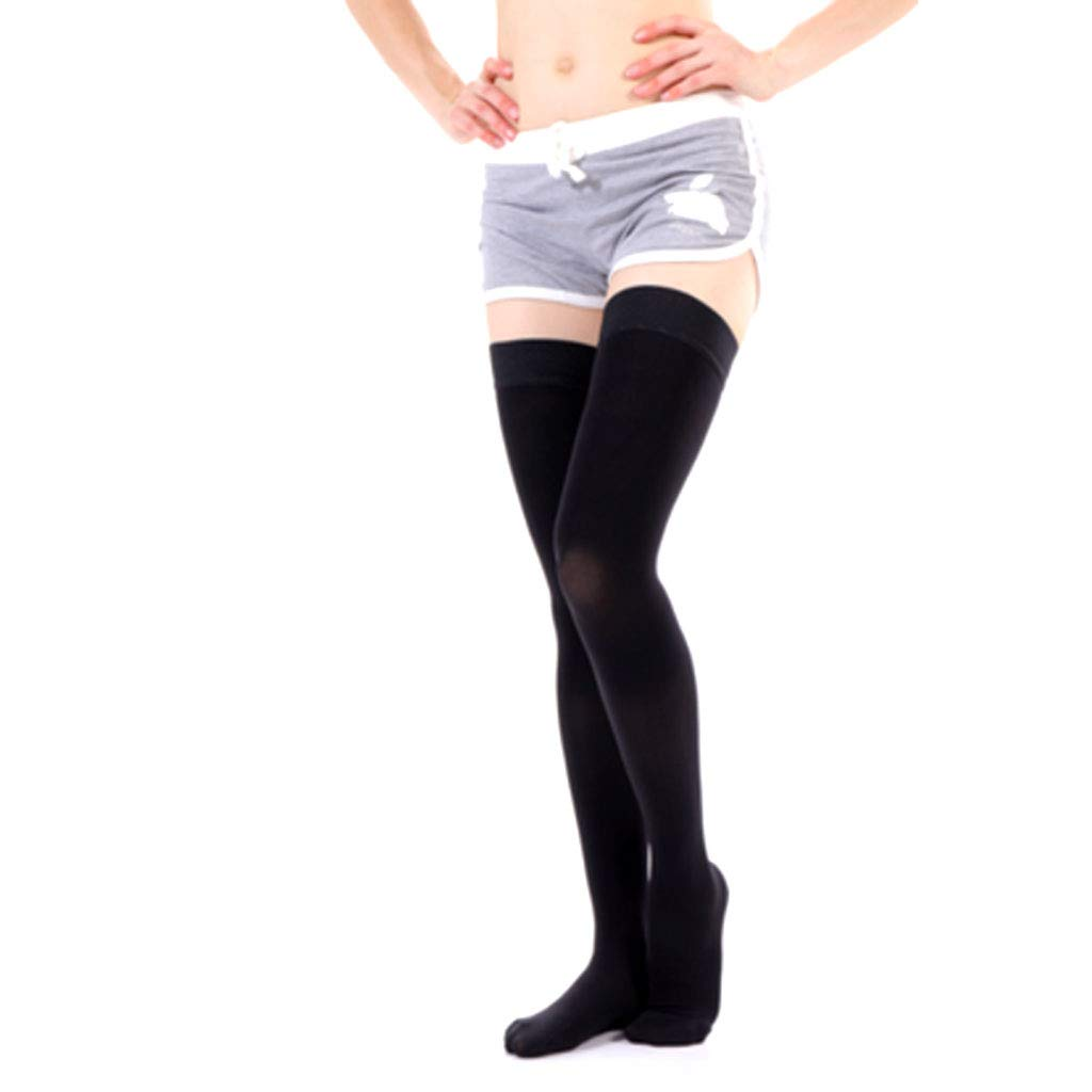 Varicose Stockings Medical Male and Female Nursing Calf Elastic Treatment Type Nurse Anti-Thrombosis varicose Socks,blackF,M DONGBALA