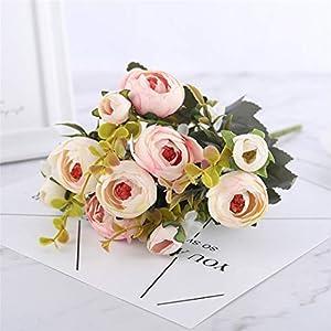 Rvbyjfg Daisy Camellia Artificial Flower Bridal Bouquet Christmas Party Wedding Decor Rose Pink 8