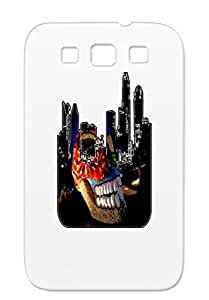 North Carolina Cities Countries Nc Charlotte CLT Gray CHARLOTTE SKYLINE SKULL INLAY Case For Sumsang Galaxy S3