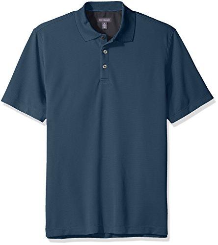 Van Heusen Mens Air Birdseye Short Sleeve Polo  Turquoise Dusk  Large