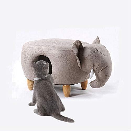 猫用トイレ ペットの巣の犬小屋猫砂の靴スツール、ソリッドウッドソファスツールスツールネストデュアル使用は暖かい、子供のソファ装飾スツール(小) (サイズ : B)