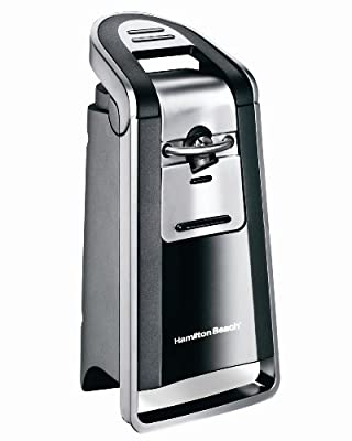 Hamilton Beach Smooth Touch Can Opener, Black and Chrome