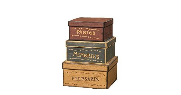 Amazon.com: Your Hearts Delight Set de 3 Cajas cuadradas de ...