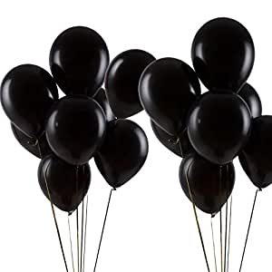 "Pearl Black Helium Balloons 100pcs 12"" Latex Balloons Birthday Party Decorations, Thicken 3.2g/pcs"