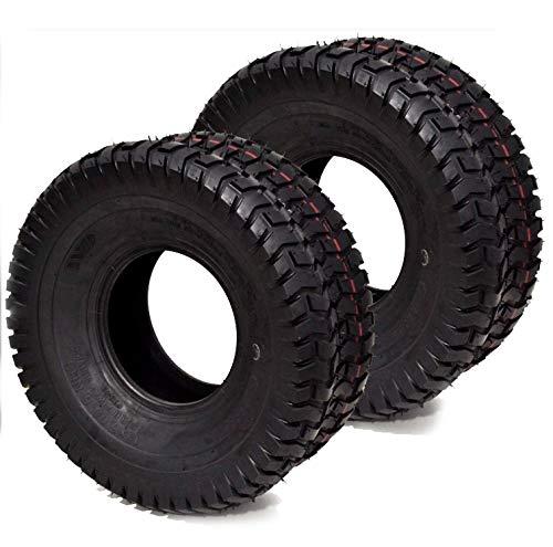 (2PK 16x6.50x8 16x6.50-8 16x6.5x8 16x6.5-8 4PLY Turf Lawn Mower Tractor Tires for John Deere, MTD, Cub Cadet, Toro, Scag, Wright & Kubota)