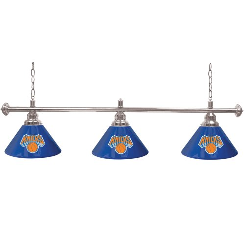 Trademark Global New York Knicks NBA 3 Shade Billiard Lamp