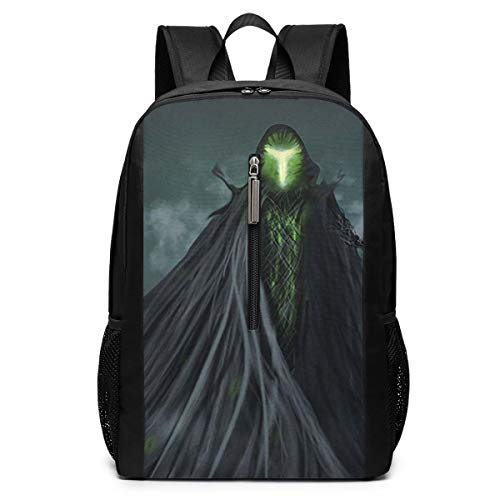Large Laptop Backpack, Waterproof Business Carry On Backpack for Men Women, College School Durable Computer Bookbag,Water Bottle Pockets Daypack - Fantasy_Death_Horror (Death Solves All Problems No Man No Problem)