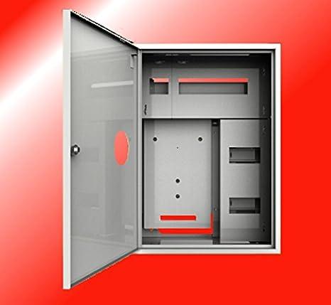 La caja de fusibles de distribución caja de contador de armario de 1 x 3 fases contador de 24 fusibles caja de distribución de corriente: Amazon.es: Bricolaje y herramientas
