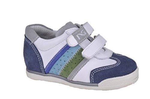 Nero Giardini Junior , Baby Jungen Lauflernschuhe Weiß weiß 22 Cam. Jeans/ Gua. Bianco