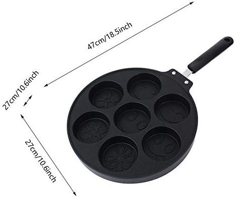 Backblech, Eierknödel-Topf Antihaft-Siebenloch-Spiegel-Eierkuchen-Kuchenform Rote Bohnen-Kuchen-Backform Mit 2 Edelstahlgriffen und einer Plastikhülle