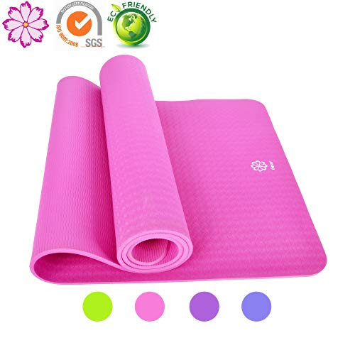 Gesar Non Slip Yoga Mat-1/3 Thick High Density Durable Cushioning Support to Avoid Sore Knees During Pilates,Stretching & Workouts-Longer and Wider Than Ordinary Exercise Mats - Namaste Rose Yoga