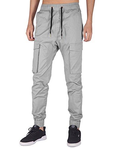 ITALY MORN Men's Chino Cargo Pants Bellows Pockets