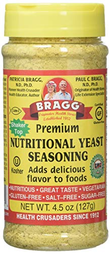 Bragg Nutritional Premium Yeast Seasoning, 4.5 Ounce (Best Nutritional Yeast Brand)