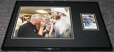 Stanley Framed Cup 2009 (Jordan Staal 2009 Stanley Cup Signed Framed 11x17 Photo Display Penguins)