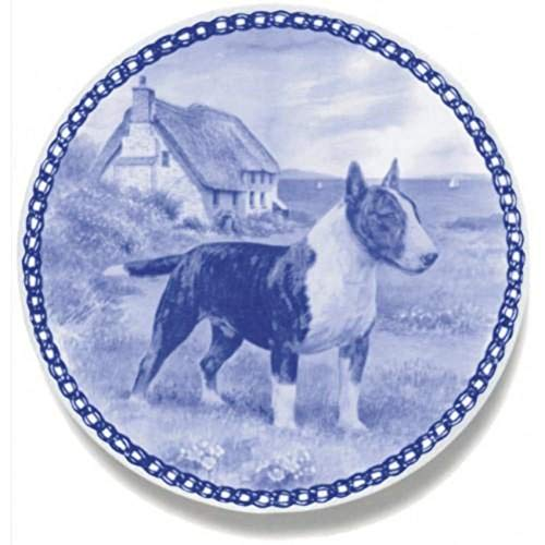 Bull Terrier - Dog Plate made in Denmark from the finest European Porcelain. Premium Quality and Design from Lekven. Perfect Gift For all Dog Lovers. Size - 7.61 inches.
