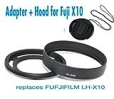 EzFoto 52mm Filter Adapter + Lens Hood for Fuji X10, with a free lens cap, Best Gadgets