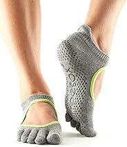 ToeSox Women's Bellarina Full Toe Grip Non-Slip for Ballet, Yoga, Pilates, Bar