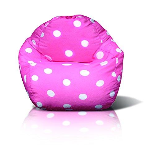 (Junior Print Bean Bag, Pink Dot)