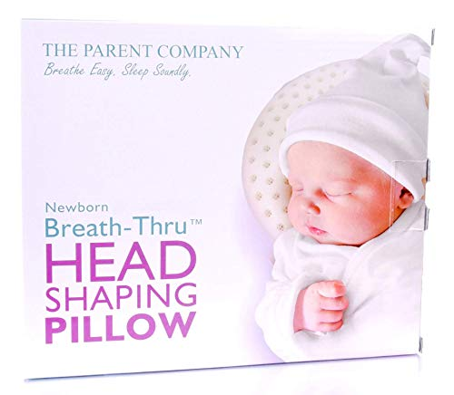 The Parent Company   Breathe-Thru Head Shaping Baby Pillow & Pillowcase   Breathable Design & Ultra-Soft Memory Foam Head Support   for Newborns (0-6 Months)