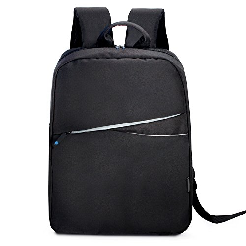 ASKITO Slim Business Laptop Backpacks Anti thief Tear/water Resistant Travel Bag fits up to 15.6 17 Inch Macbook Computer Backpack in Gray (Black) ()
