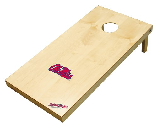 Wild Sports NCAA College Ole Miss Rebels 2' x 4' Authentic Cornhole Game Set by Wild Sales