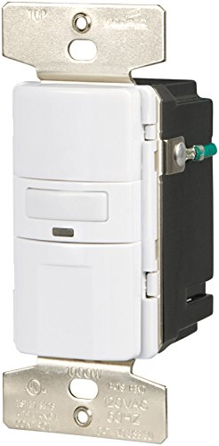 Eaton VS310U-W-K Motion-Activated Vacancy Sensor Wall Switch, White by Eaton
