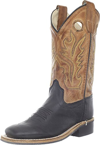 Tawny Trailblazer Youth Two Tone Boots By Old West Bsc1810g (2.5, Black/Tan)