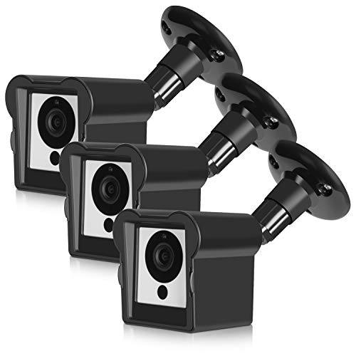 Kupton Wall Mount Bracket Compatible with Wyze Camera (3 Packs), 360 Degree Adjustable Weather-Proof Indoor Outdoor Mount Holder Stand + Protective Housing Cover Case for Wyze Cam 1080p ()