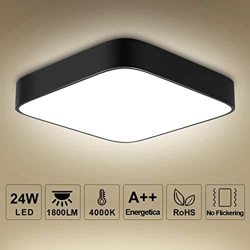 Deckenleuchte LED Deckenlampe bedee Lampe 4000K LED Panel Deckenlampe Leuchte Quadratische Dünne Badezimmer Küche Schlafzimmer Bad Wohnzimmer Esszimmer Balkon Flur (Warmweißes Licht)