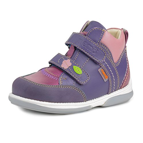 Memo Polo Ankle Support Children's Corrective Orthopedic Sneaker, Purple/Pink, 22 (6 M US Toddler)