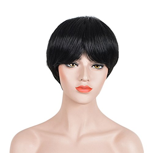 Karkat Vantas Cosplay Costume (Short Staight Cosplay Wigs for Women Male Costumen Party Synethic Wig Black)