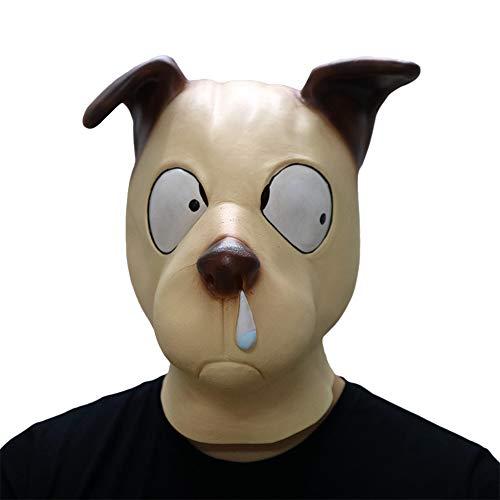 Nasal Dog Mask Halloween Mask Adult Latex Animal Silky Dog Wolf Dog Puppy Dog Schnauzer Mask ()