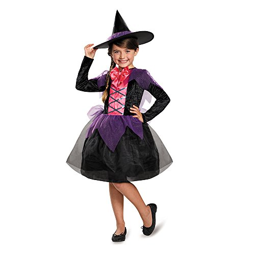 Disguise Witch Costume, Medium (7-8) (Witch Girl Costume)