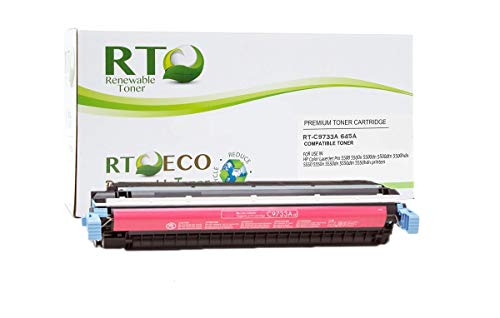 Renewable Toner Compatible Toner Cartridge Replacement for HP 645A C9733A Color Laserjet 5500 5550 (Magenta)