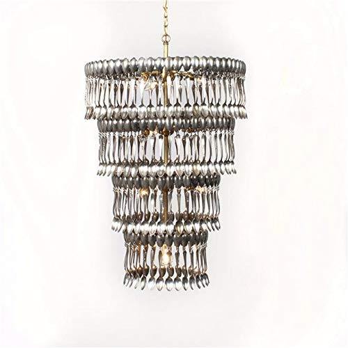 EuroLuxHome Very Large Chandelier Made of Vintage Silverplate Spoons Custom Art ()