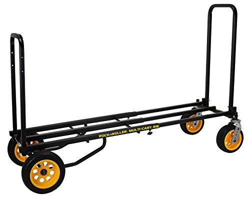 "Rock-N-Roller R18RT (Mega Plus) 8-in-1 Folding Multi-Cart/Hand Truck/Dolly/Platform Cart/42"" to 60"" Telescoping Frame/700 lbs. Load Capacity, Black from Rock-N-Roller"