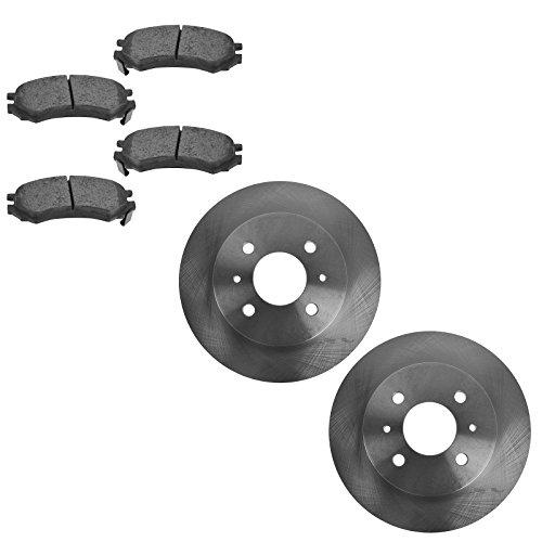 Front Ceramic Brake Pad & Disc Rotor Kit Set for Saturn SC SL SW Series