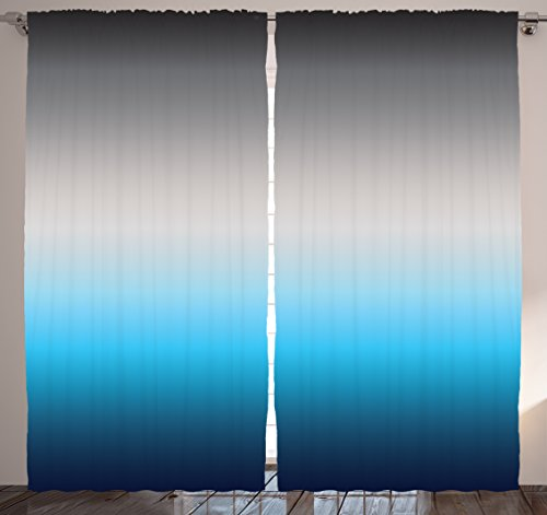 Ombre curtains home decor by ambesonne 108 x 84 inches for 108 window treatments