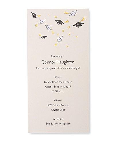 George Stanley Graduation Party Tea Length Imprintable Invitation, 10-Count (GS0207202) ()